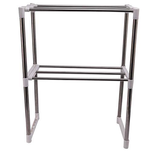 TaoToa Edelstahl Einstellbare Multifunktionale Mikrowelle Ofen Regal Regal St?nder Typ Doppel Küche Aufbewahrungs Halter