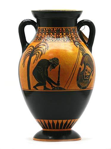 Suicide of Ajax vaso greca antica anfora ceramica Museum copia