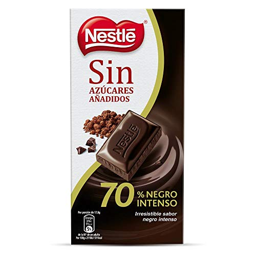 NESTLE chocolate negro 70% cacao sin azúcares añadidos tableta 125 gr
