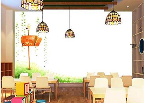 Shuangklei 3D behang/op maat foto muur papier/Magic mooi grasland brievenbus/tv/bank/beddengoed/ktv/hotel/woonkamer/kinderen 120 x 100 cm.