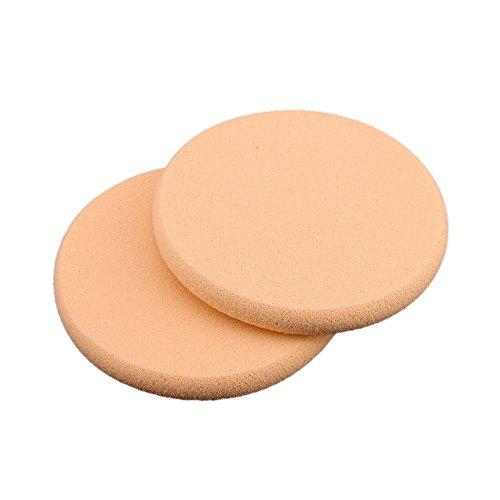 REFURBISHHOUSE 2 Eponge Houppe Rond pour Poudre Fond de Teint Maquillage Demaquillage