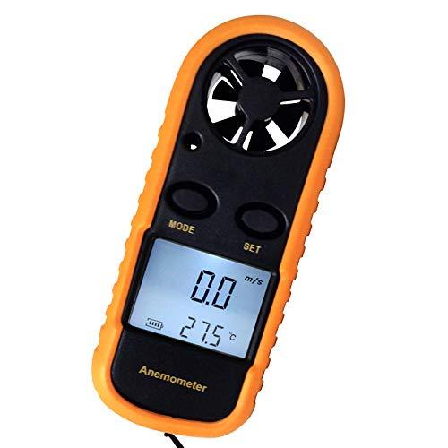 Mini-anémomètre Numérique Portatif 2 En 1 Avec Thermomètre, Débitmètre De Vent, Diagramme De Vent Beaufort, M / S, Km / H, Pi / Min, Noeuds, Mph, Celsius (° C) Ou Fahrenheit (° F)