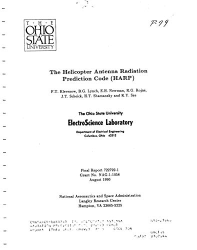 The Helicopter Antenna Radiation Prediction Code (HARP) (English Edition)