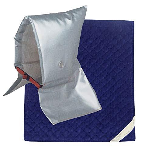 頭巾 & カバー セット [ 小サイズ ブルー ] セーフティクッション [ EJ ]【 日本防炎協会認定 】防災頭巾