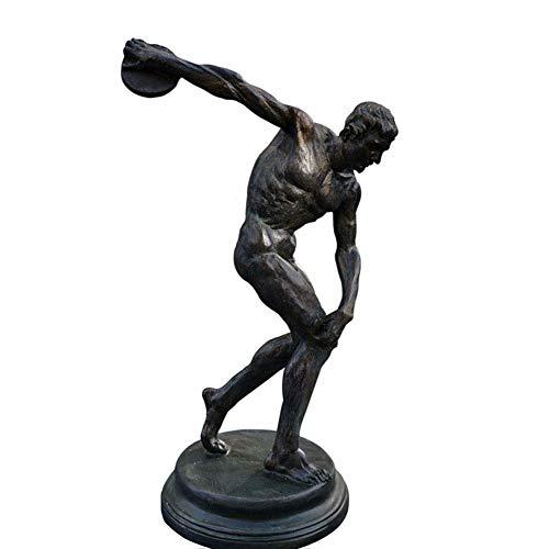 Athlet Statue Statue, Sport Skulptur Diskuswerfer Artefakte Replik griechische Kunst Statue Ornament Geschenk