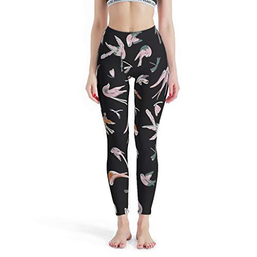 FFanClassic Leggings deportivos Little Bird para mujer, elásticos, pantalones de yoga para pilates, gimnasio, color blanco