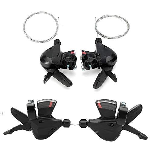 ZZMWLES 1 par 3x8 Velocidad MTB de la Bicicleta Izquierda Derecha Shifter for Shimano Acera SL-M310