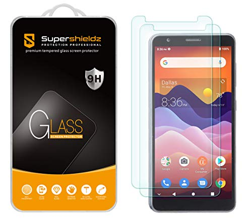 (2 Pack) Supershieldz for ZTE Avid 579 Tempered Glass Screen Protector, Anti Scratch, Bubble Free