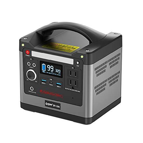 グッドグッズ(GOODGOODS) ポータブル電源 大容量 リン酸鉄リチウム電池 家庭用蓄電池 93120mAh/298Wh 純正弦波 LED照明ランプ付 AC(320W) /DC/USB/Type-Cなど出力 車中泊 アウトドア 防災対策に SPI-32