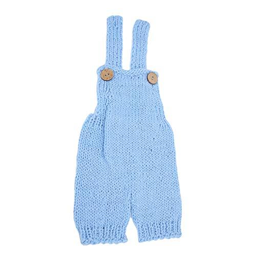 Zerodis Baby Fotografie Outfits Hosenträger Hose Fotoshooting Requisiten Kleidung für Neugeborene(Blau)