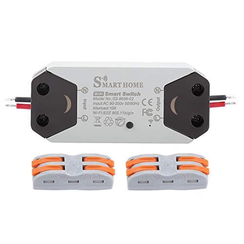 Emoshayoga El Control de Voz Material del ABS Tiene la función de sincronización Interruptor de luz Inteligente WiFi 95V-250V para el hogar