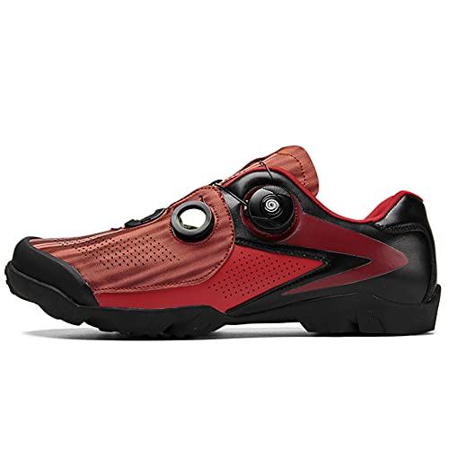 Zapatos de ciclismo de carretera para hombres, hebilla precisa correa de bicicleta de montaña zapatillas de deporte Spin zapatos MTB bicicleta zapatos