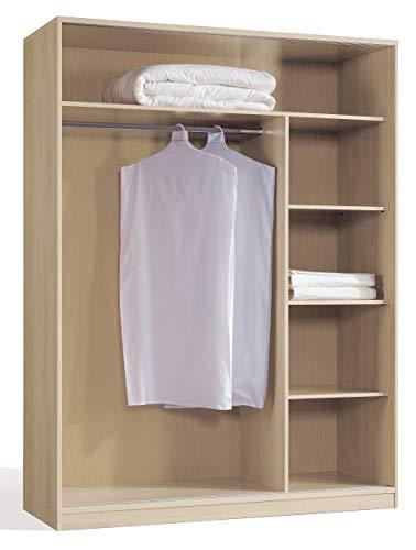 Miroytengo Armario vestidor Estructura Abierta Color Cerezo habitación Dormitorio Matrimonio 150x55x200 cm