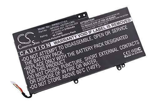 vhbw Batterie Li-Polymer 3750mAh (11.1V) pour Ordinateur Notebook HP Pavillion X360, X360 13-A010DX comme 760944-421, 761230-005, HSTNN-LB6L, NP03XL.