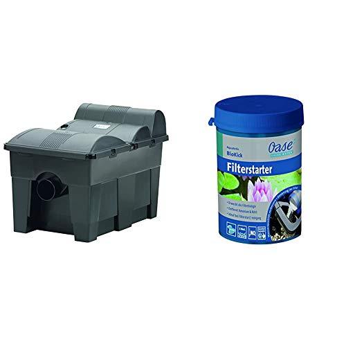 Oase 57377 BioSmart 16000 UVC/Start & AquaActiv BioKick 200 ml Wasseraufbereiter, Silber