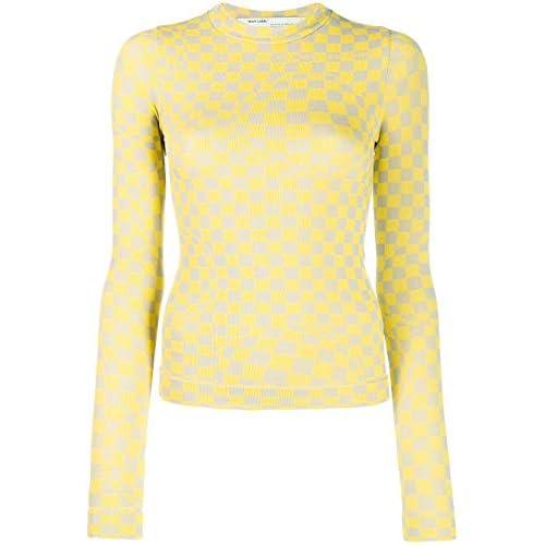 OFF-WHITE Luxury Fashion Donna OWAB015F19D860656000 Giallo Elastan Maglione | Autunno-Inverno 19