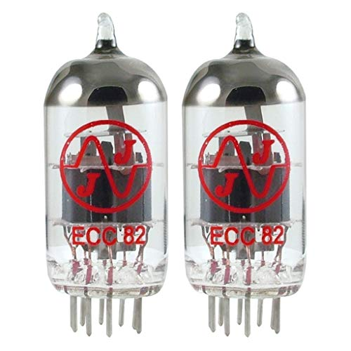 Brand New Gain Matched Pair (2) JJ Tesla Electronics 12AU7 / ECC82 Vacuum Tubes