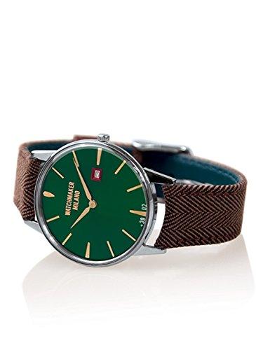Orologio Watchmaker Ambrogio Solotempo in Acciaio Quadrante Verde