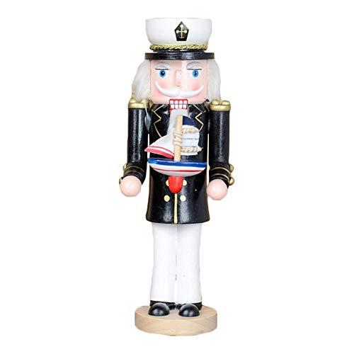 Makluce Notenkraker pop Kerstmis nieuwe creatieve houten piratenkapitän pop decoratie partij sieraden