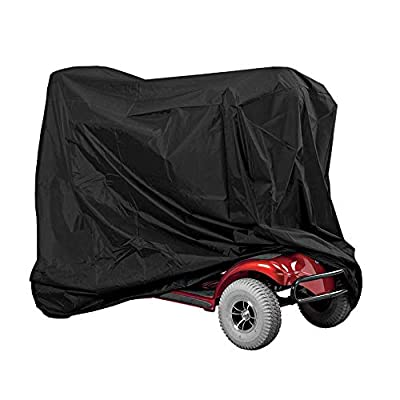 Mobility Scooter Cover Wheelchair Rain Protection, Heavy Duty Waterproof Scooter Cover with Clamp, Scooter Storage Outdoor Protection Prevent Sunlight Rain Dust Polyester Oxford 140 x 66 x 91cm