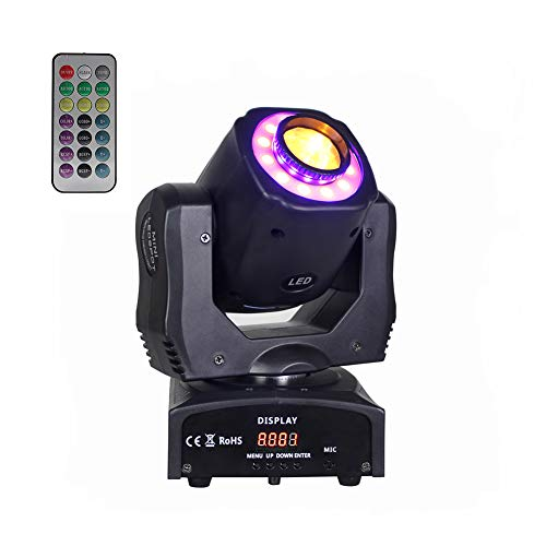DJ Moving Head Stage Light RGBW (4 in 1) DMX512 Rotating Stage...