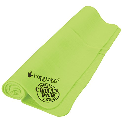 "Frogg Toggs Chilly Pad Cooling Towel, HiVis Lime Green, Size 33"" x 13"