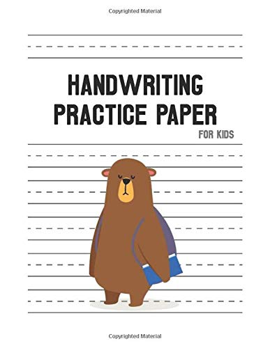 Handwriting Practice Paper for Kids: Practicing handwriting worksheets, learn to write workbook for girl age 2