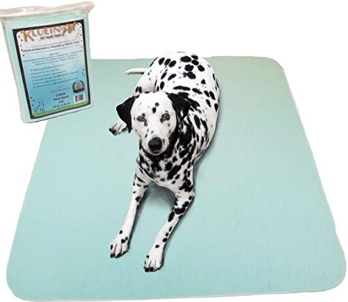 Kluein Pet Washable Pee Pads for Dogs, 2 Pack XL 36x41 Washable Puppy Pads, Waterproof Potty Pads, Whelping Pads, Puppy Playpen, Travel, Dog Training Pads