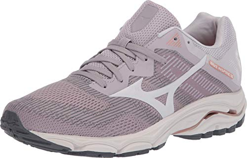 Mizuno Women's Wave Inspire 16 Road Running Shoe, Cloud Grey-Snow White, 8.5 B US