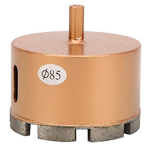 Broca de diamante con núcleo de sierra perforadora de 0,36 cm de diámetro de 8 mm de diámetro y broca de diamante práctica para vidrio para cerámica (85 mm)