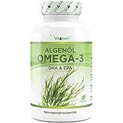 Oméga 3 Vegan - Premium : life'sOMEGA avec DHA & EPA d'huile d'algues sous forme de triglycérides - Faible en substances nocives - Dosage extra élevé - 90 capsules