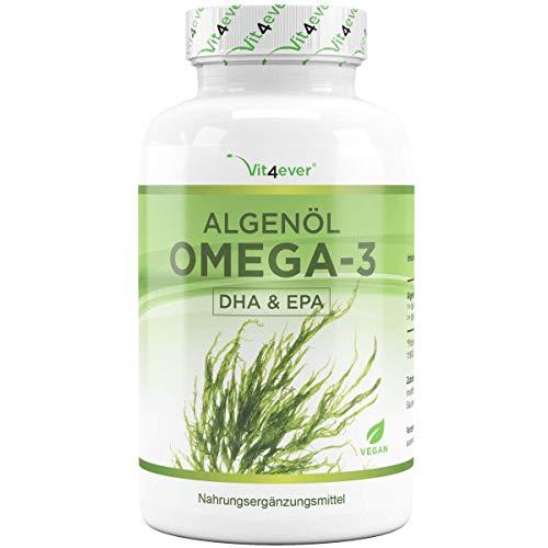 Omega 3 Vegan - Premium: life's™OMEGA mit DHA & EPA aus Algenöl in Triglycerid-Form - Laborgeprüft - Schadstoffarm - Extra hochdosiert - 90 Kapseln