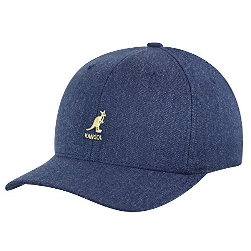 Kangol Wool Flexfit Casquette de Baseball, Bleu (Denim), L Mixte
