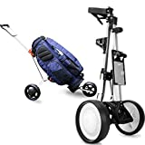 MROSW 2020 NEW Professional Folding 3 Wheels Golf Trolley Outdoor Sports Travel Airport
