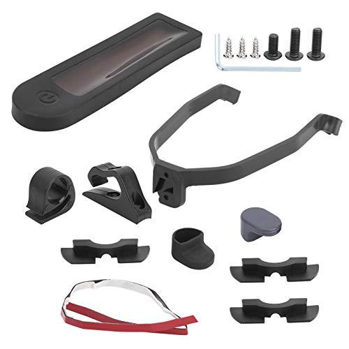 DAUERHAFT Juego de Accesorios para Scooter eléctrico Carcasa Resistente, Adecuada para Xiaomi M365 / Pro con Mayor Resistencia con un botón de Encendido
