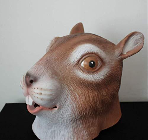 tytlmaske Eichhörnchen Gesicht Kopf Maske,Cosplay Latex Maske,Vollkopf Spaß Maske,Tier Maus Masken Für Halloween Lustige Party Urlaub Kostüm