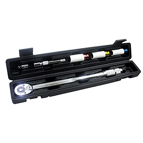 Explopur 6 pièces 40~210Nm 1/2 pouce à dégagement rapide clé dynamométrique de haute précision de manchons d'outils de réparation de voiture réglage bidirectionnel avec boîte de rangement