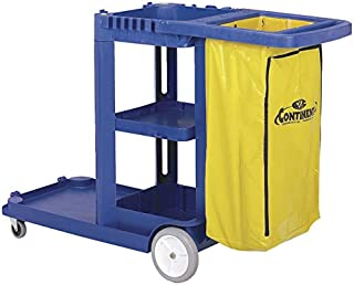 Continental 184BL, Blue Standard Janitorial Cart (Case of 1)