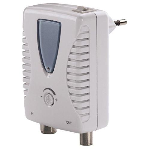 Hama - Amplificatore di antenna TV, 25 dB, regolabile, alimentazione 220V