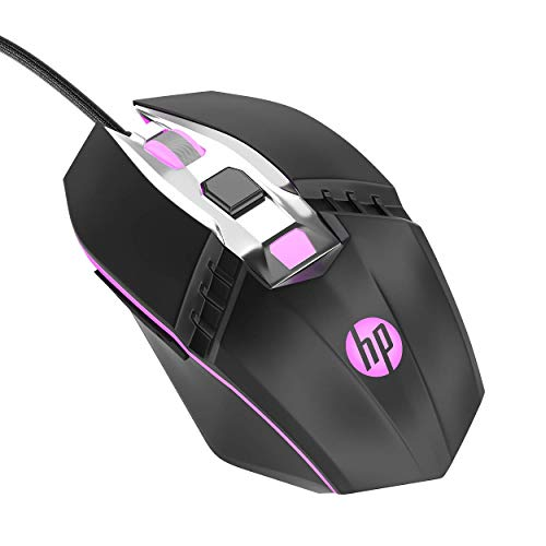 HP RGB Wired Gaming Mouse, Adjustable DPI, Programmable Buttons with Breathing Light, Ergonomic Design USB Computer Mice