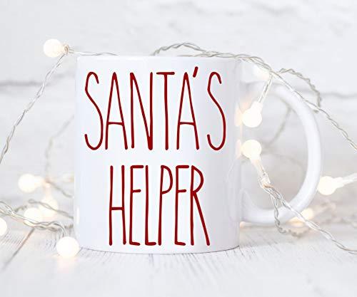 Kerstmis Mok Santas Helper Rode Letters Kerstmis Koffie Cup Hot Cocoa Mokken Stocking Stuffer