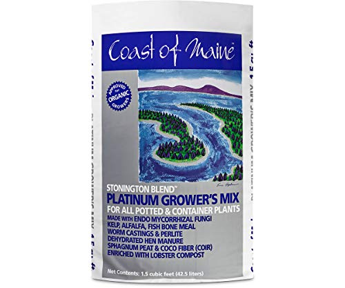 Coast of Maine Stonington Blend Organic Growers Mix for Containers, Large Pots, Tomatoes, 1.5cf