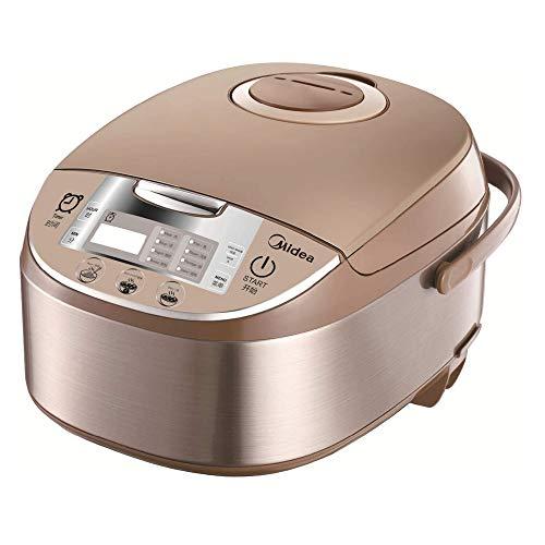 Midea MB-FS5017 Reiskocher mit Dampfgarer & Warmhaltefunktion, Multikocher, antihaftbeschichteter Innentopf, Messbecher und 2 Reislöffeln, Reis ohne Anbrennen, 875W Schongarer mit 24H Timer