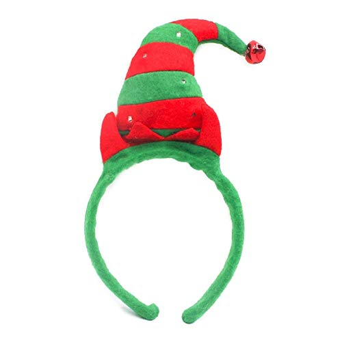 The Electric Mammoth Light Up LED Christmas Tree or Elf Hat (Elf) Red and Green
