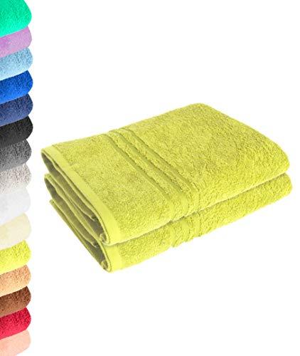 Lavea Juego de 2 toallas de ducha (70 x 140 cm), color verde lima