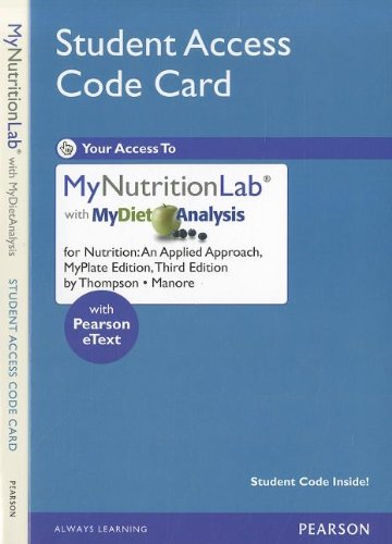 Nutrition MyNutritionLab With MyDietAnalysis Access Code:...