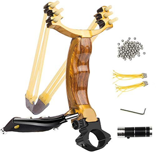Wisdoman Outdoor Professional Slingshot Kit, Adjustable Stainless Professional Hunting Catapult High...