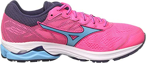 Mizuno Wave Rider 21 Wos, Women's Running Running Shoes, Pink (Pinkglo/Aquarius/Graystone 23), 4 UK (36.5 EU)