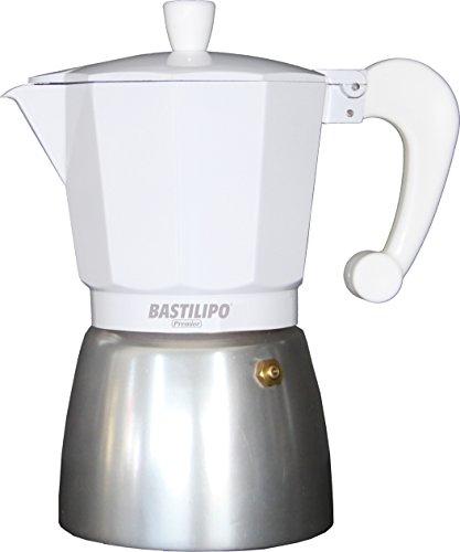 Bastilipo Colori-3 Cafetera, Aluminio, Blanco