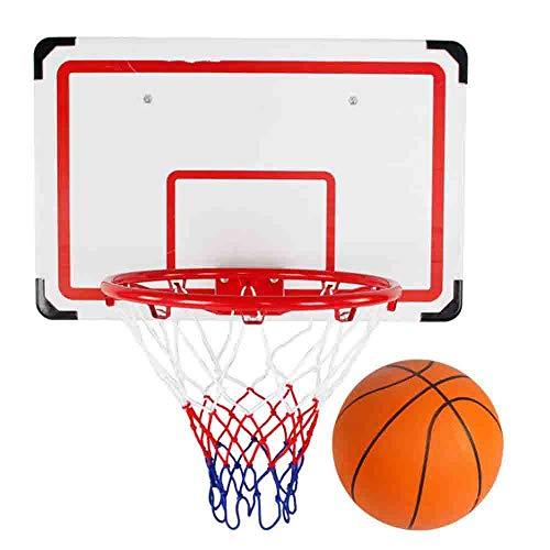 LJHLJH Hanging Basket Parete Obiettivo del Cerchio Rim Pallacanestro Set per Esterna Coperta Superficie nobilitato Spessore e Ammortizzatore con Palla